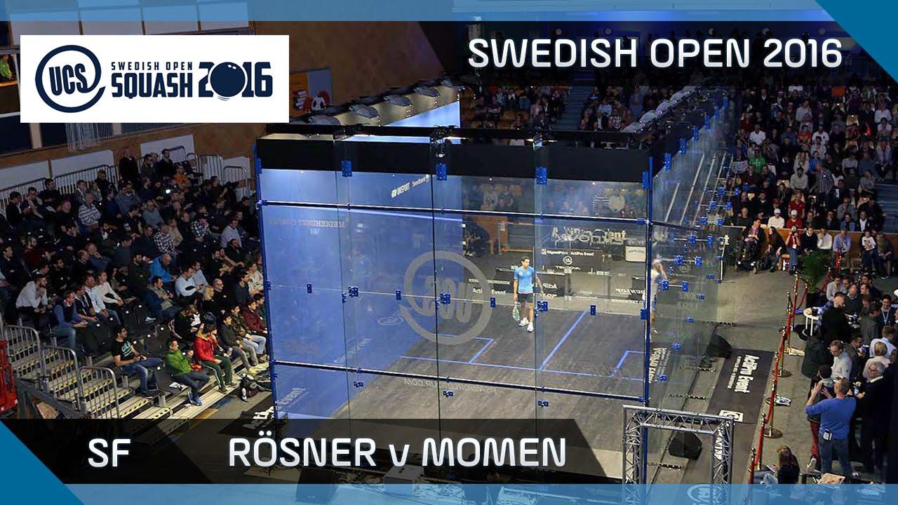 Squash: Rösner v Momen - UCS Swedish Open 2016 - SF Highlights