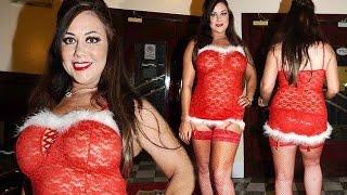 Big Brother star Lisa Appleton is feeling festive as she slips into thigh skimming Santa dress and f