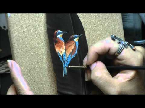 How To Paint On Feathers With Acrylic Paint