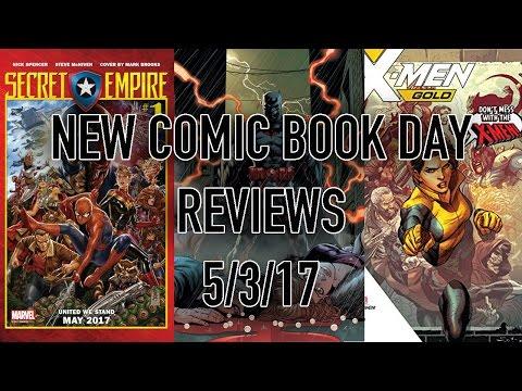 New Comic Book Day Reviews 5/3/17 - Secret Empire. Batman and more!