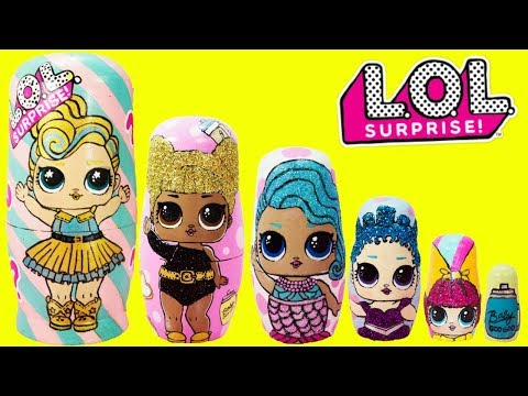 Download Lagu LOL SURPRISE Nesting Dolls, Stacking Cups Toy Surprises MP3 Free
