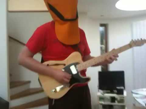 Masked guitarist