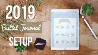 2019 digital Bullet Journal setup w/Procreate & Goodnotes
