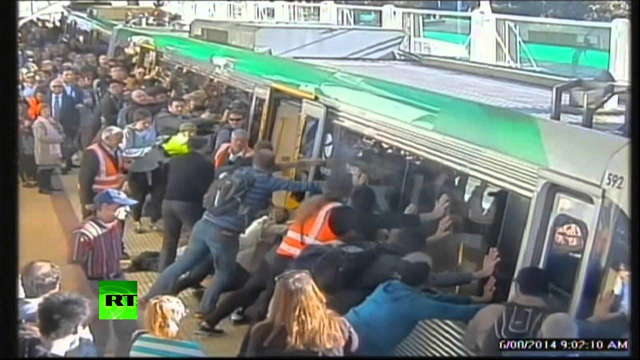 Between Man Man Stuck Between Train