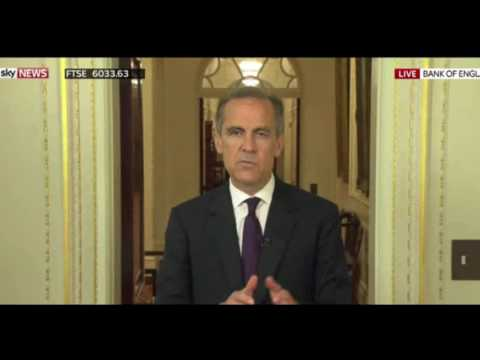 Mark Carney reacts to Brexit vote
