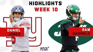 Daniel Jones & Sam Darnold Battle It Out | NFL 2019 Highlights