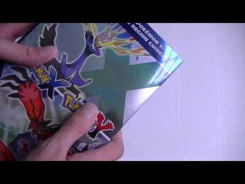 Pokemon X and Y Strategy Guide Unboxing