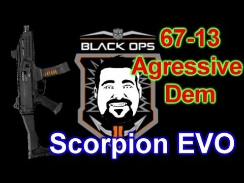 Black Ops 2 Gameplay - Scorpion EVO Dem Lode Star and Swarm 67-13 I Love Zombie Mode!