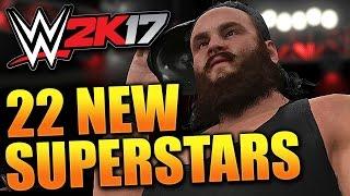 WWE 2K17 - 22 NEW SUPERSTARS ANNOUNCED!! (WWE 2K17 Roster Reveal)