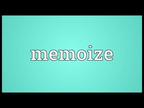 Header of Memoize