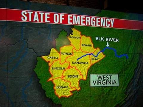 West Virginia facing environmental catastrophe