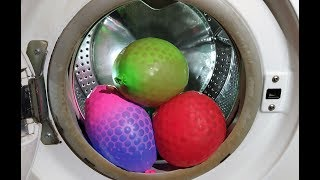 Experiment - Orbeez Water Balloon - in a Washing Machine - Centrifuge/ water beads