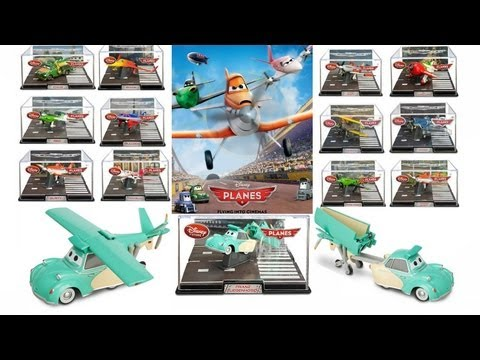 Disney Planes Toys Entire Diecast Collection Franz Fliegenhosen Aerocar + Dusty airplane Review