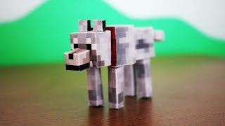 How To Make A Minecraft Paper Wolf