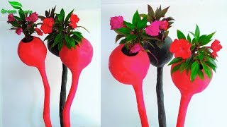 How to Make Cement Flower Pot at Home | Cement Planter Making at Home | Cement Idea//GREEN PLANTS