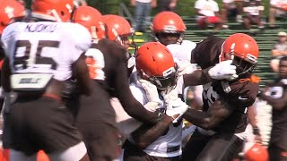 Fights break out at Browns Training Camp