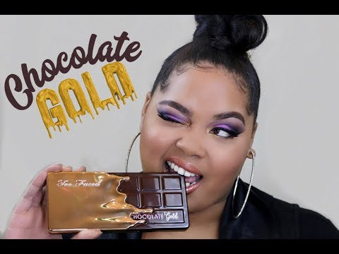 Too Faced Chocolate Gold Palette Review + Swatches + Tutorial   KelseeBrianaJai