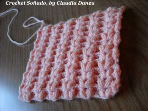 MIMETIC CROCHETED RIBBING STITCH / PUNTO EL?STICO CROCHET ...