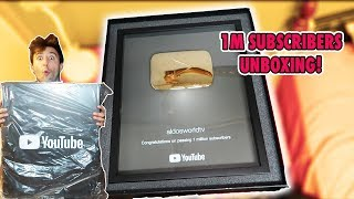 HOW TO GET 1M SUBSCRIBERS ON YOUTUBE IN LESS THAN A YEAR | UNBOXING MY 1M GOLDEN PLAY BUTTON!