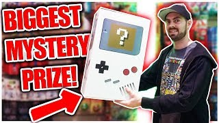 I Won The Arcade's Biggest Mystery Prize Box! Whats Inside? Shenaniganz ArcadeJackpotPro