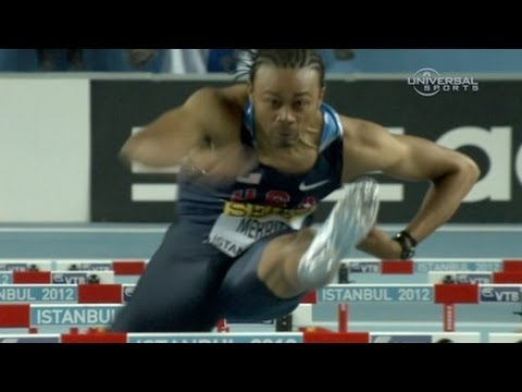 M 60H F01 (Aries Merritt beats Liu Xiang for gold, World Indoors 2012)