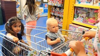 Emily Doing Shopping with Reborn Baby Doll