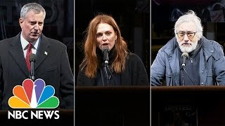 Robert DeNiro, Julianne Moore, Mayor Bill de Blasio Speak Out At Demonstration In NYC | NBC News