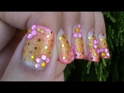 Blue Bead Ombre Gradient Nail Art Design Tutorial Video | How To Save ...