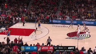 1st Quarter, One Box Video: Portland Trail Blazers vs. Golden State Warriors