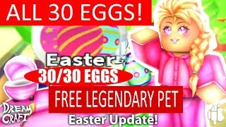 How to get ALL (31 TOTAL) Easter Eggs in Adopt Me!( AND THE LEGENDARY PET!)