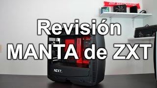 Review / Revisión del gabinete Manta de NZXT negro con rojo Español