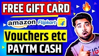 Get Free Amazon Flipkart Vouchers | Gift Cards & Paytm Cash DAILY - 2019