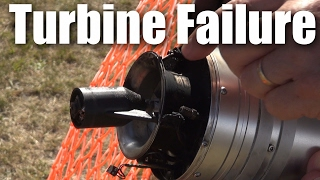 Catastrophic turbine failure on very large BAE Hawk RC plane