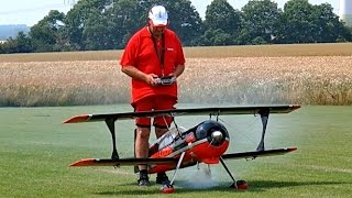PITTS S12 BULLDOG WITH SMOKE RC SCALE MODEL AIRPLANE DEMO FLIGHT / Rehfelde Germany June 2016