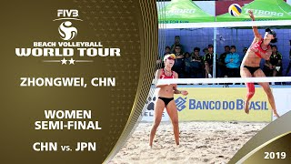 LIVE Women's SemiFinal 1 2 ZhongWei CHN 2019 FIVB Beach Volleyball World Tour