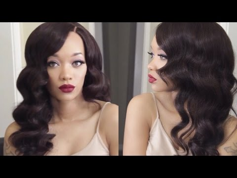 HAIR   Old Hollywood Waves Tutorial   EV Beauty Curling Wand