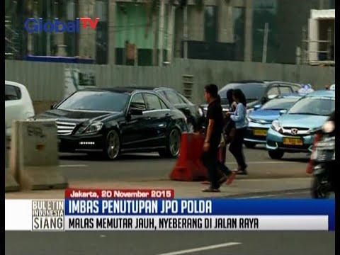 Imbas Penutupan Jembatan Penyeberangan Orang Polda Metro Jaya - BIS 20/11