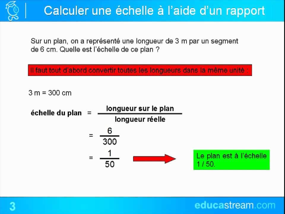 echelles cours maths 5ème - YouTube