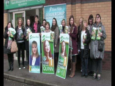 Sinn Féin women activists from across West Belfast were on the election trail in support of local council candidates Mary Kate Quinn and Charlene O'Hara.