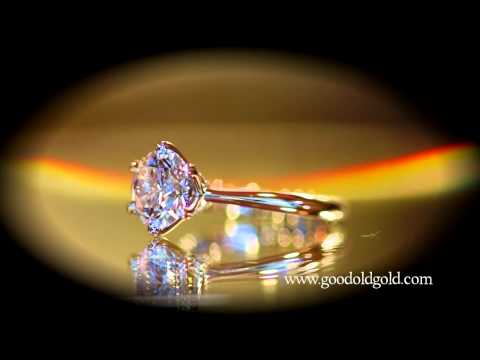 Mark Morrell Petite Torchiere Engagement Ring with a 2.14ct E SI1