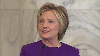 Hillary Clinton Full Speech at Harry Reid Portrait Unveiling