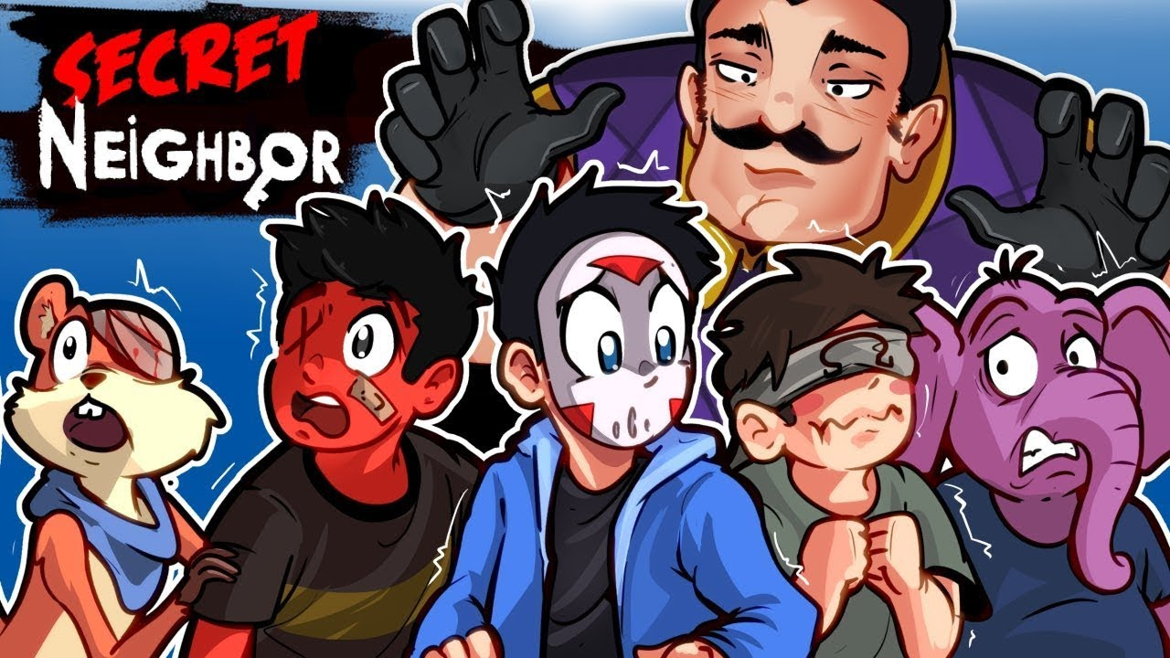 Secret Neighbor - Our First Look! - WHICH ONE OF US IS THE NEIGHBOR???? 1V5!