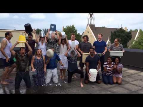 Cast of Alice Through the Looking Glass ALS ice bucket challenge.