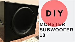 "DIY Monster Subwoofer! 18"" Ultimax Parts Express UM18-22 Sealed Box Flat Pack Build"