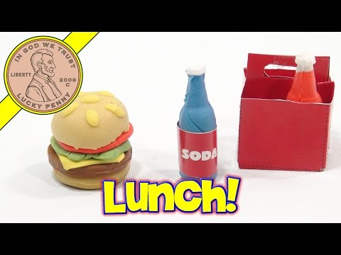 Make Your Own Eraser DIY Kit!  Burgers & Soda, Order Up!
