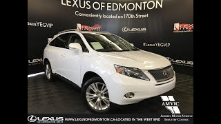 Used White 2010 Lexus RX 450h Touring Package Review - Stony Plain, Alberta