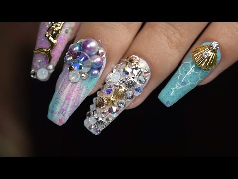 Mermaid Nails with Daily Charme Products | April Ryan | Red Iguana