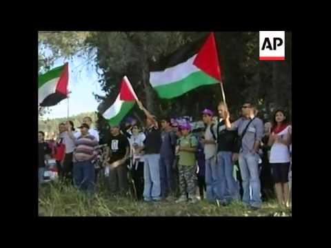 Arab Israeli protesters clash with police on 60th anniversary