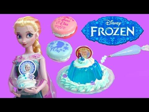 Queen Elsa Disney Frozen Whipple Jello Ice Cream 2 Macarons Princess Anna Birthday Craft Unboxing video