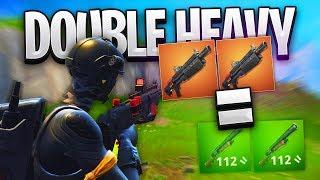 *NEW* DOUBLE HEAVY SHOTGUN METHOD!! - Fortnite: Battle Royale